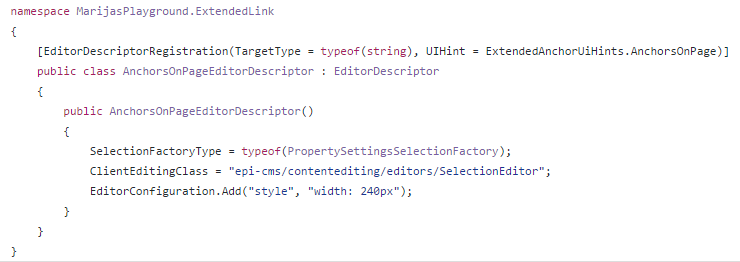 Change in editor_plugin.js for the extended EPiServer link that support anchors for 7.19.2