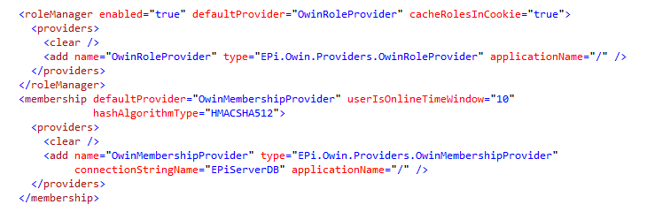 EPiServer Owin integration - web and appSettings config changes