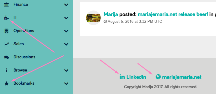 Using font awesome for social links and menus