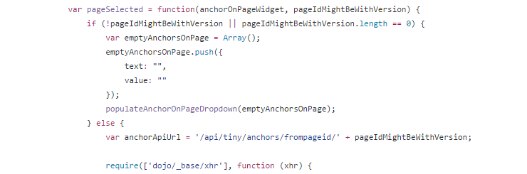 Hooking to a page dojo widget inside EPiServer TinyMCE link